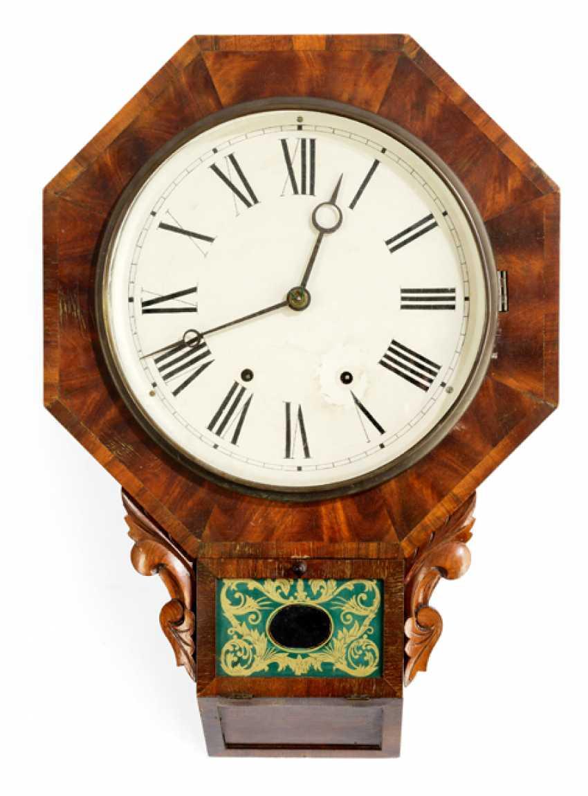 WALL CLOCK, ENGLAND, 19. CENTURY, - photo 1