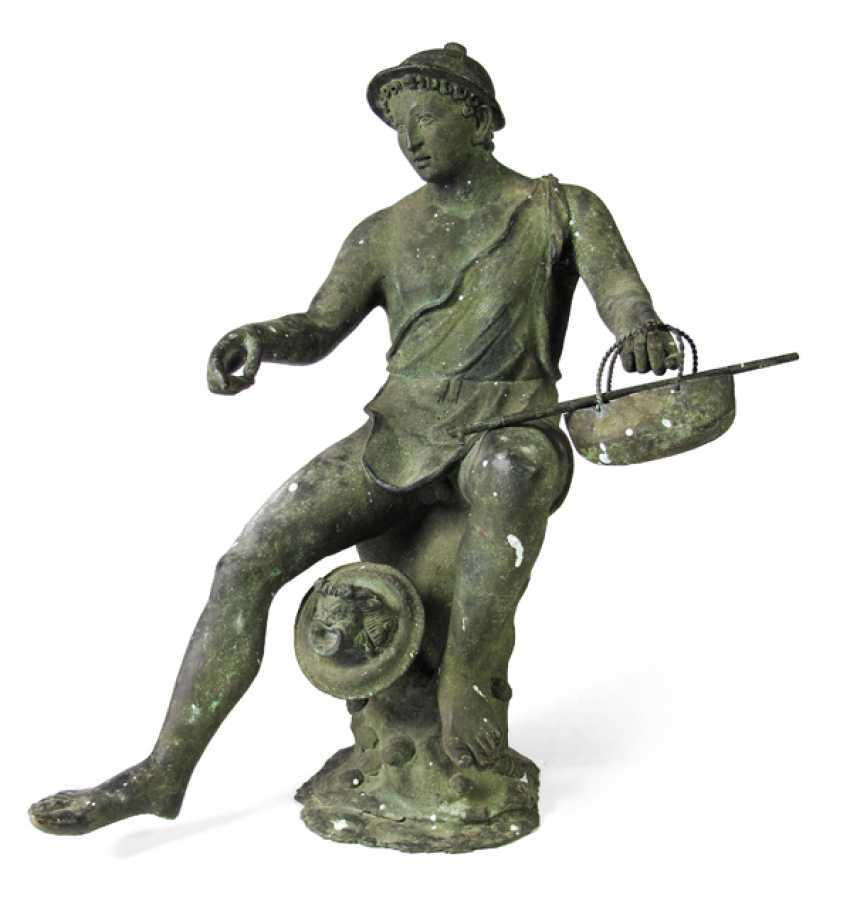 FISHERMAN WITH THE FLUTE, BRONZE, - photo 1