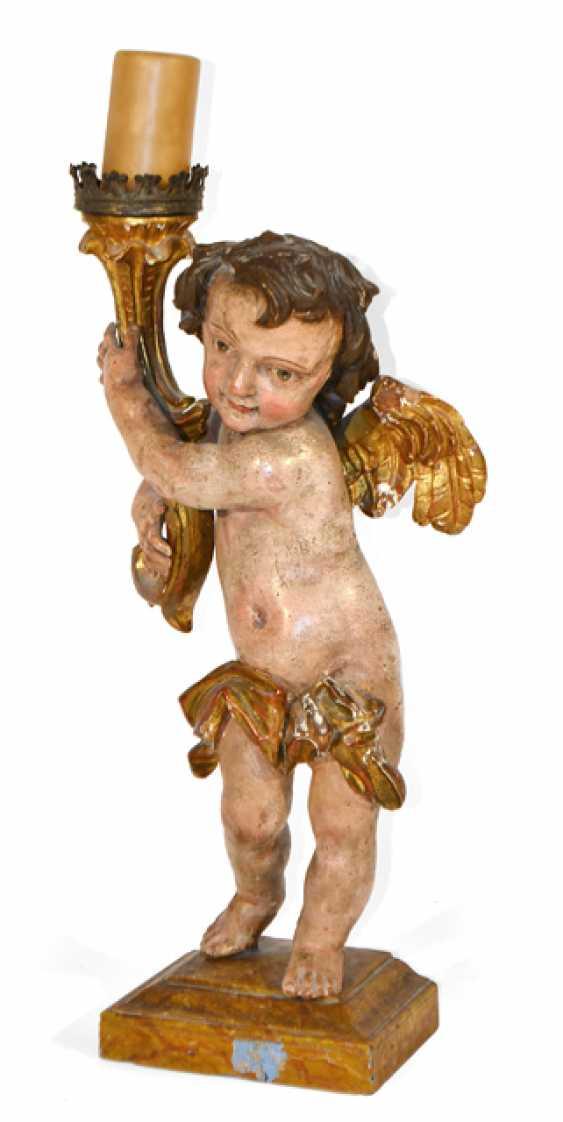 Candlestick, angel, 18./19. CENTURY, - photo 1