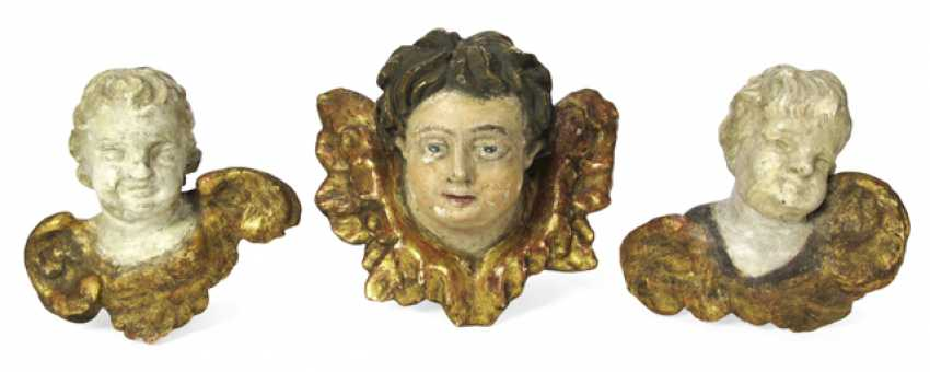 THREE WINGED PUTTI HEADS, - photo 1