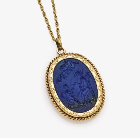 Pendant with lapis lazuli gem - photo 2