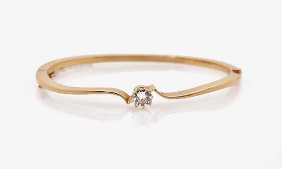 Bangle bracelet with diamond - photo 2