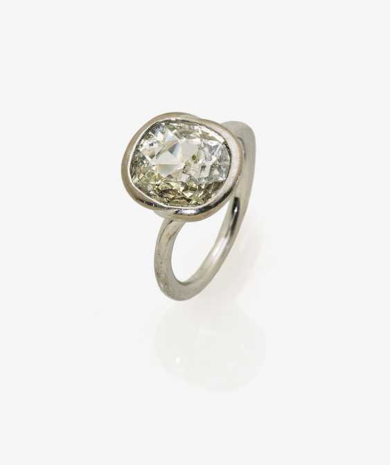 Solitaire ring with a diamond the old European cut-Cushion Cut - photo 2