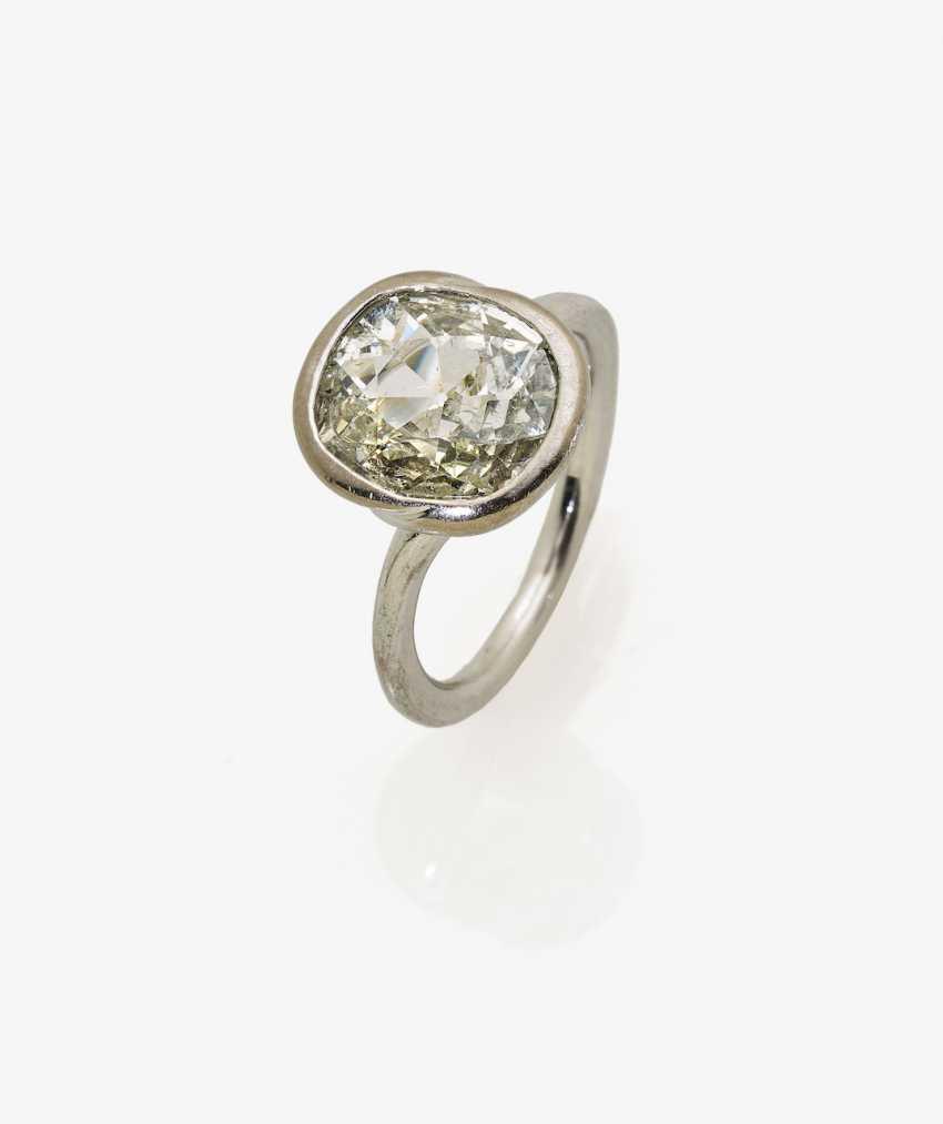 Solitaire ring with a diamond the old European cut-Cushion Cut - photo 2