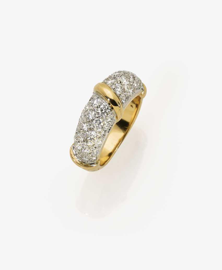 Band ring with diamonds - photo 2
