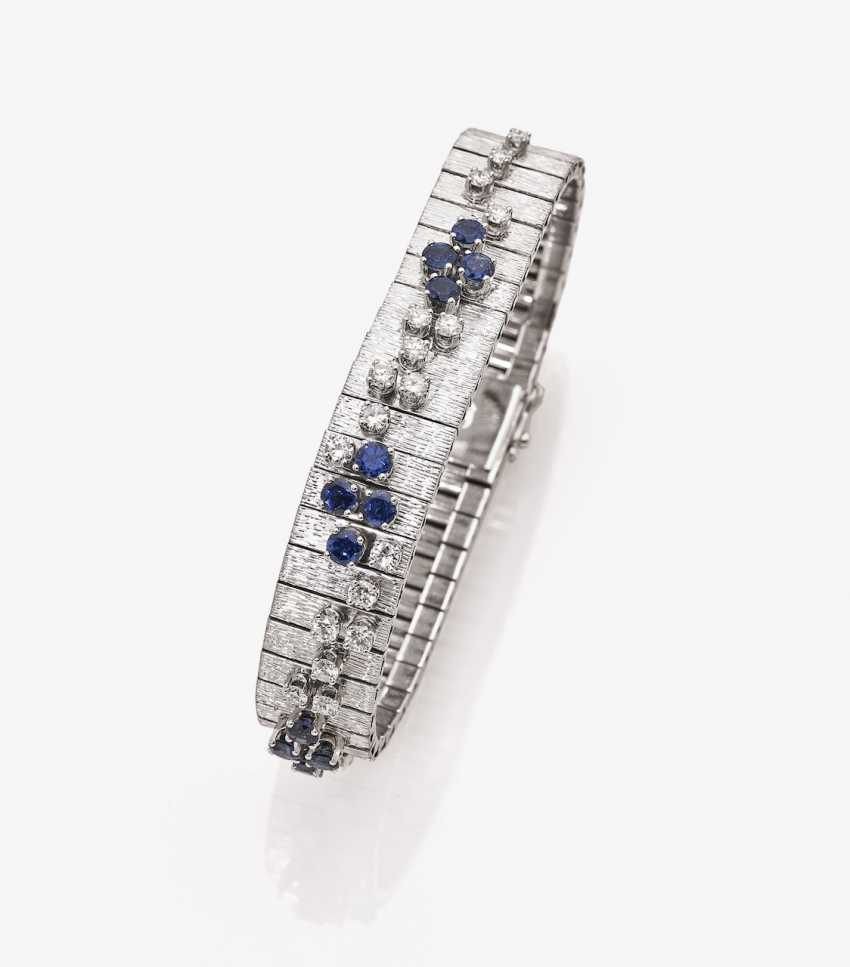 Bracelet with diamonds and sapphires - photo 1