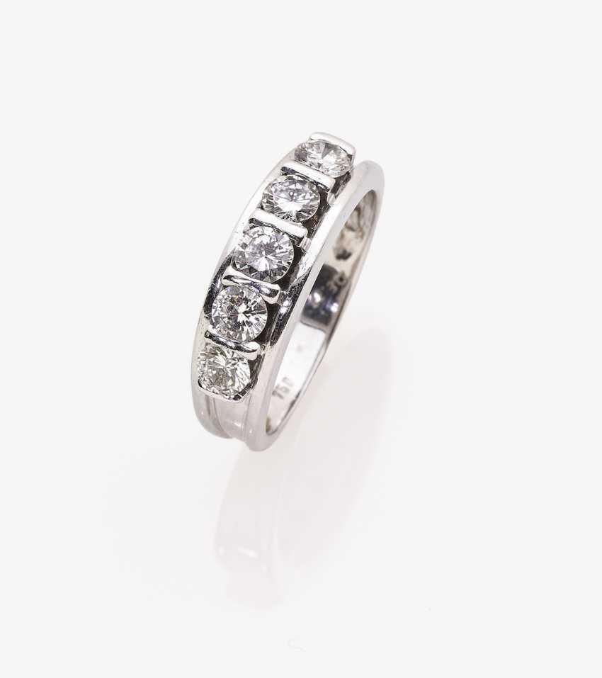 Alliance ring with diamonds - photo 1