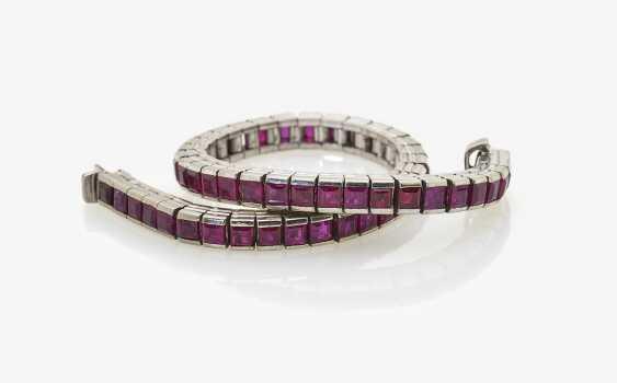 Rivièrearmband with rubies - photo 1