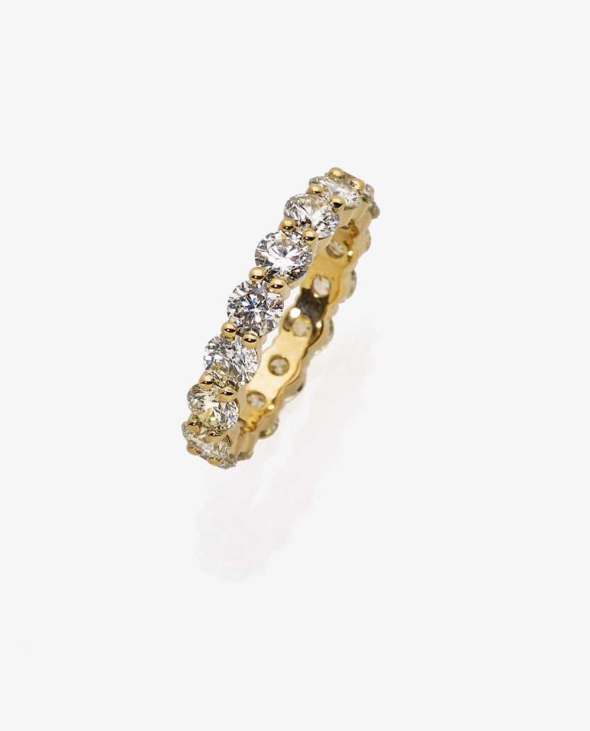 Memory ring with diamonds - photo 1