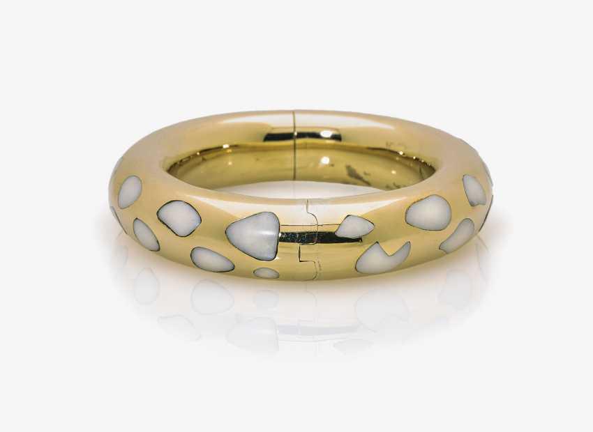 Bangle bracelet with Jade - photo 2