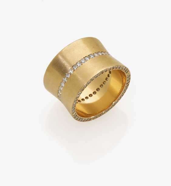 Modern band ring with brilliant-cut diamonds - photo 2