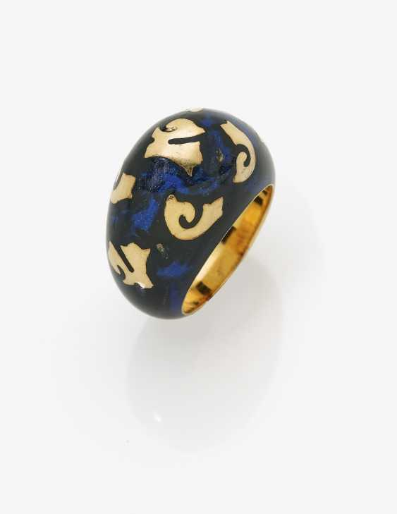 Designer Ring with enamel and gold ornaments - photo 1