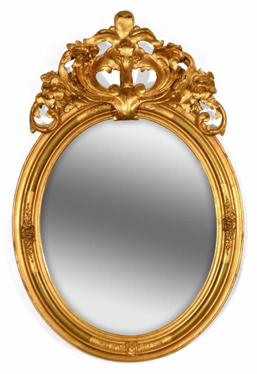 OVAL WALL MIRROR, - photo 1