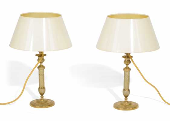 PAIR OF TABLE CANDLESTICKS IN THE CLASSIC- - photo 1