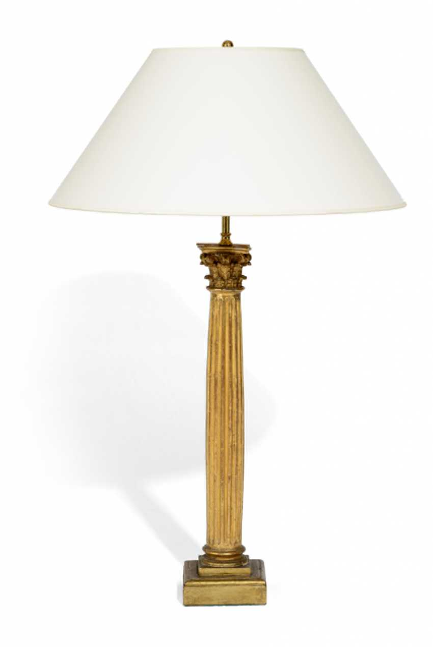 TABLE LAMP WITH COLUMN BASE, - photo 1