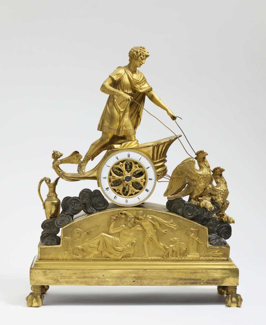 """Mantel clock """"Ganymede in the chariot of Zeus"""" - photo 1"""
