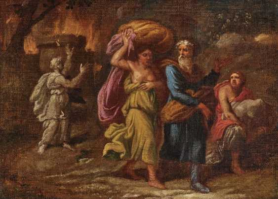 Lot and his daughters flee from the burning of Sodom - photo 1