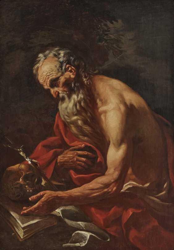 17. Century, representing a penitent Saint Hl. Jerome. - photo 1