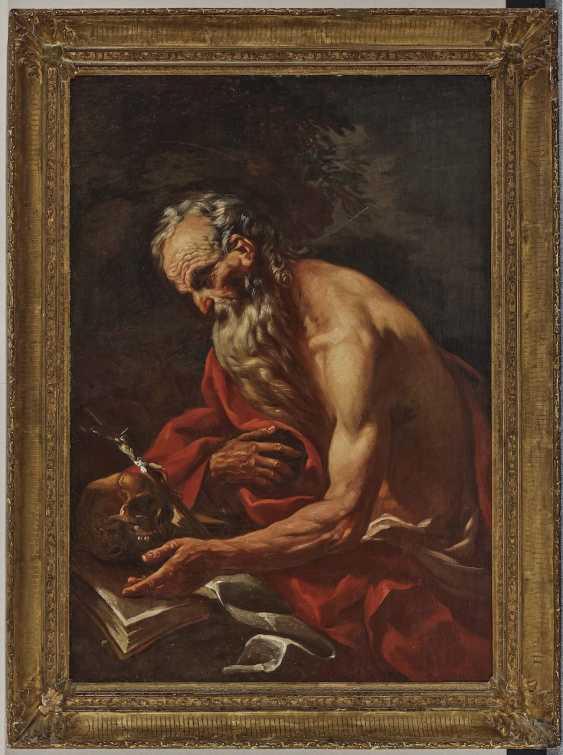 17. Century, representing a penitent Saint Hl. Jerome. - photo 2