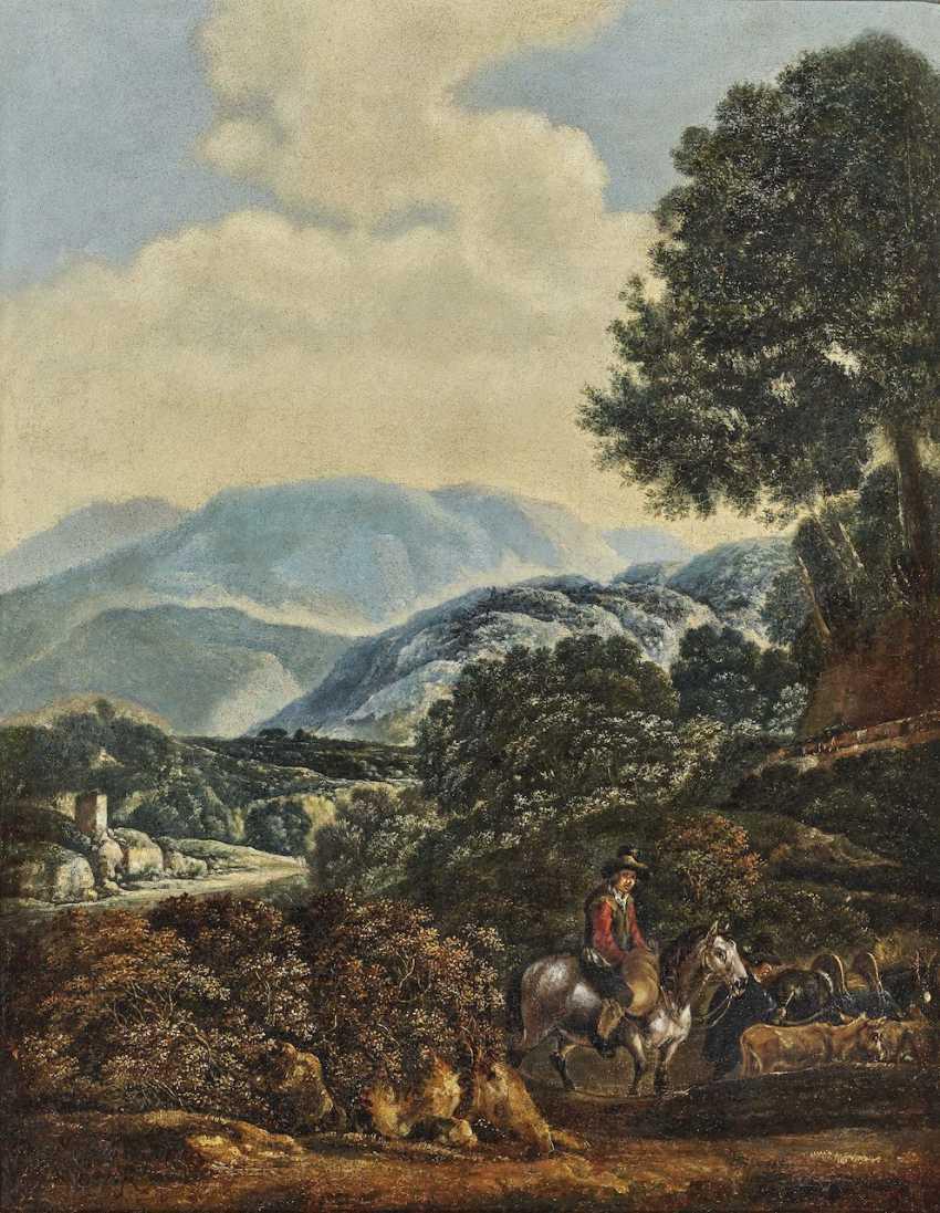 Shepherds in a mountain landscape - photo 1