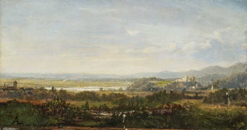 Foothill landscape with a castle - photo 1