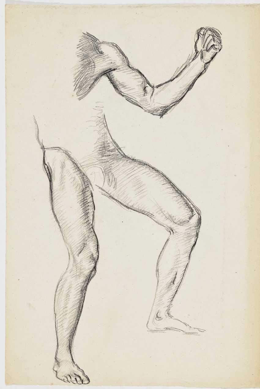 A seated male Nude - photo 1