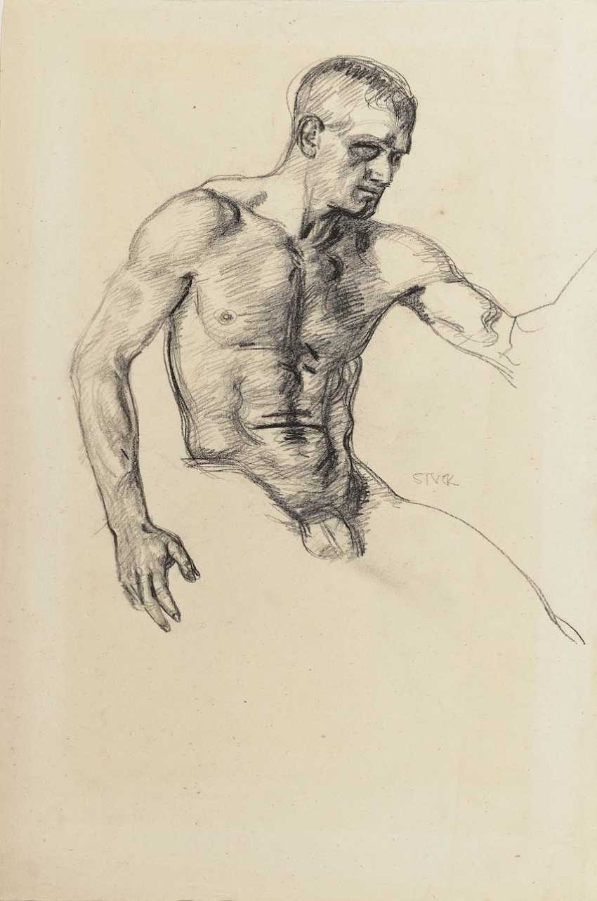 A seated male Nude - photo 2