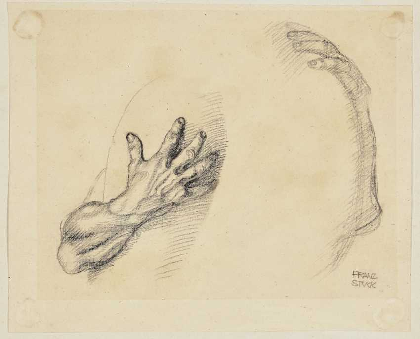 Act stand with rod. Hand study. - photo 2