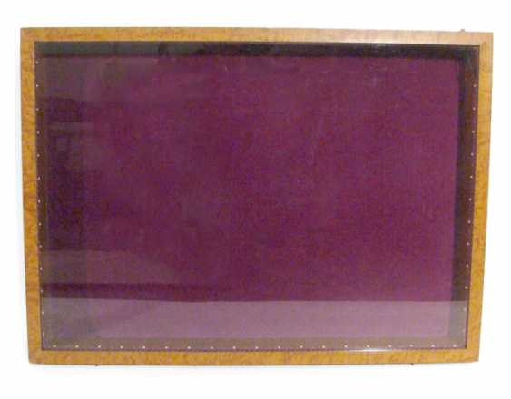 TABLE DISPLAY CASE, HINGED, - photo 1