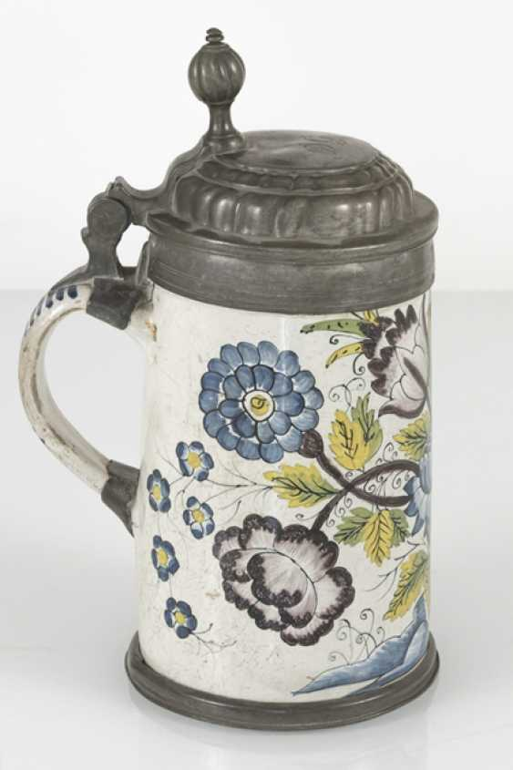 Roller jug with swamp flowers painting - photo 2