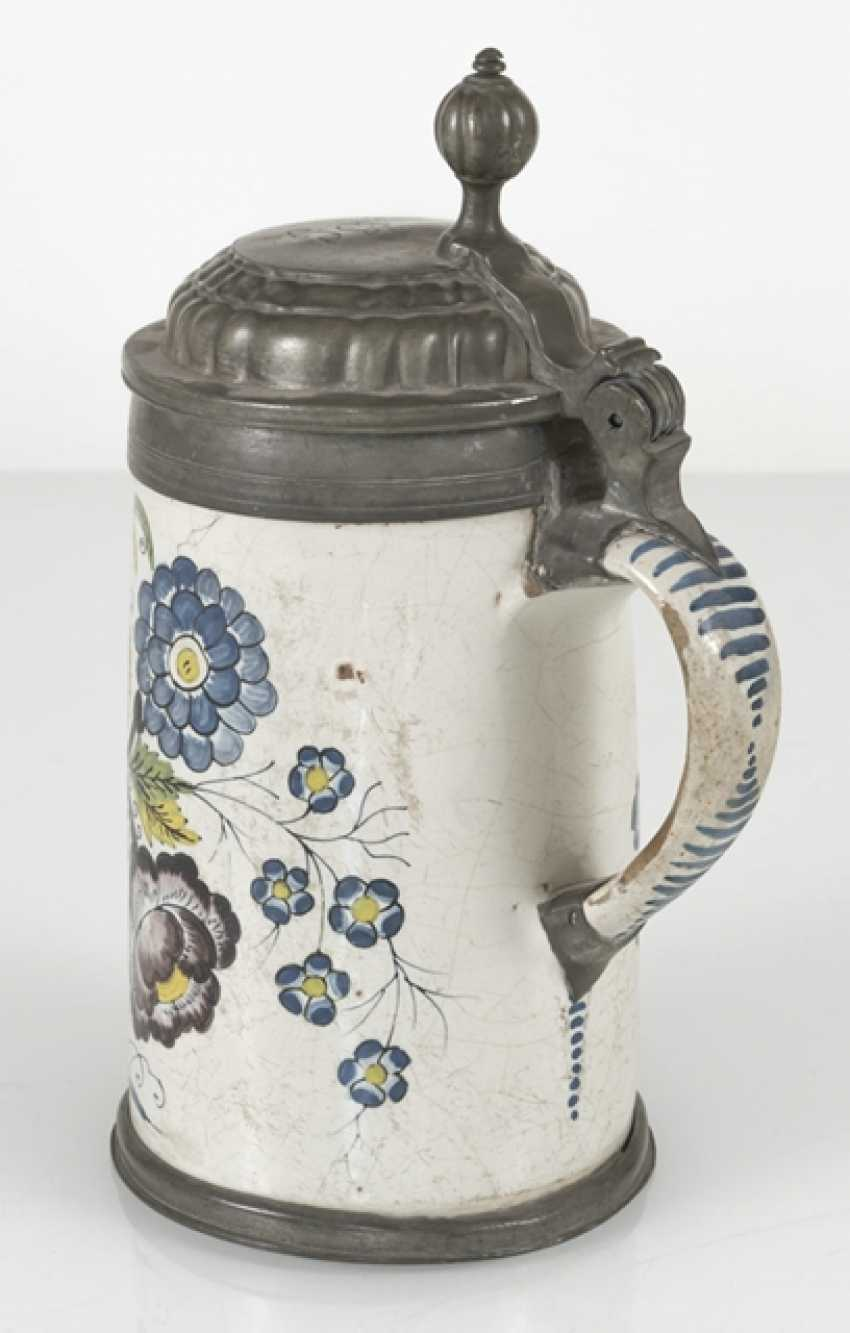 Roller jug with swamp flowers painting - photo 3