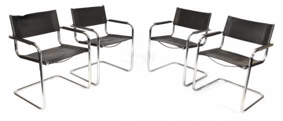 4 CANTILEVER CHAIRS, 1970S - photo 1