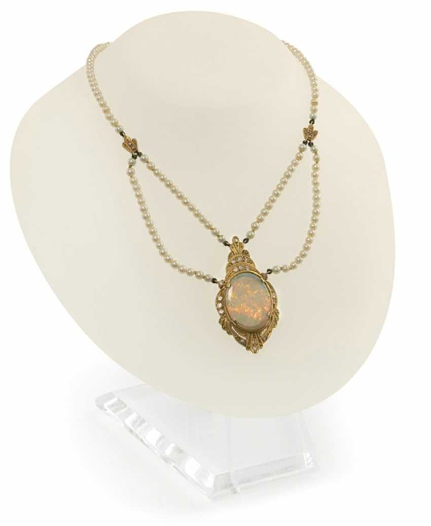 Opal-Perl-Collier - photo 1