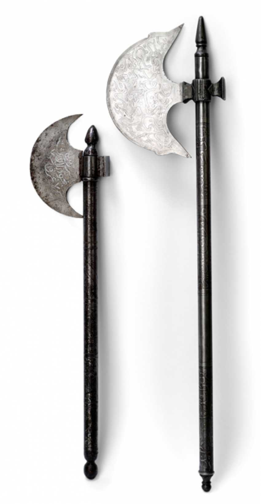TWO BATTLE-AXES MADE OF IRON - photo 1