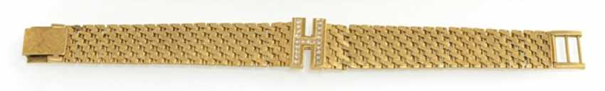 "Gold bracelet with the monogram ""H"" - photo 1"