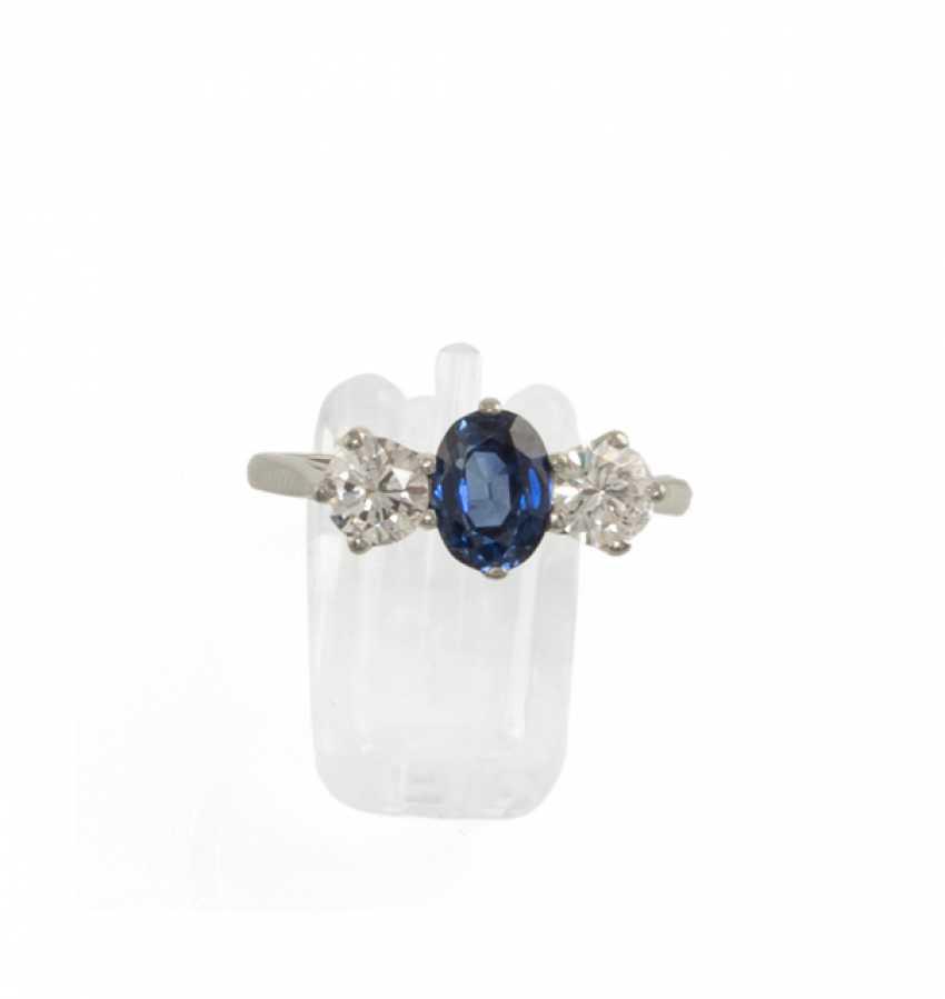 Saphir-Diamant-Ring - photo 1