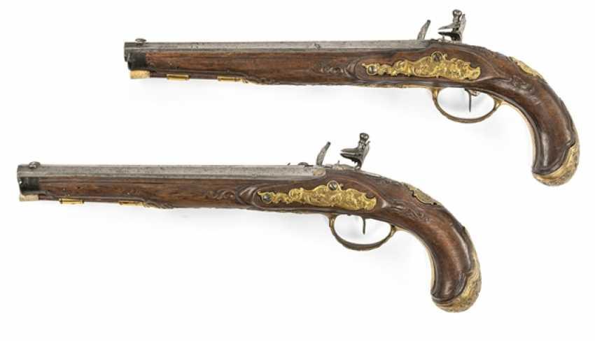 Pair Of Officer's Flintlock Pistols - photo 2