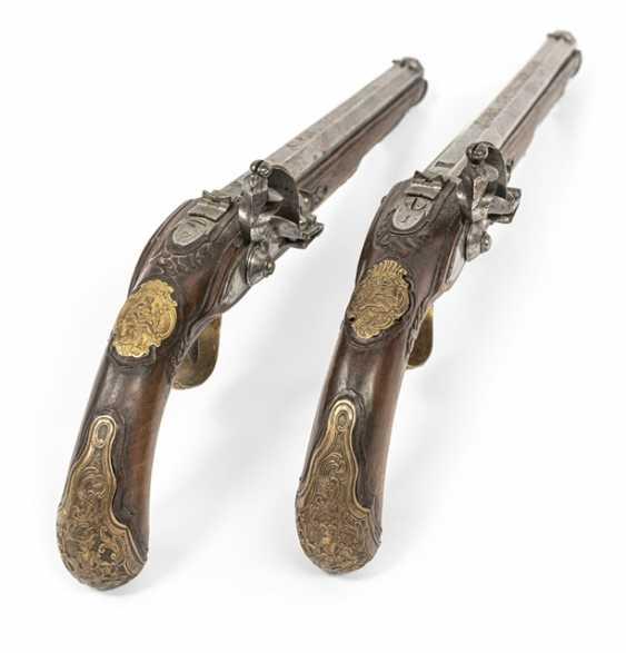 Pair Of Officer's Flintlock Pistols - photo 4