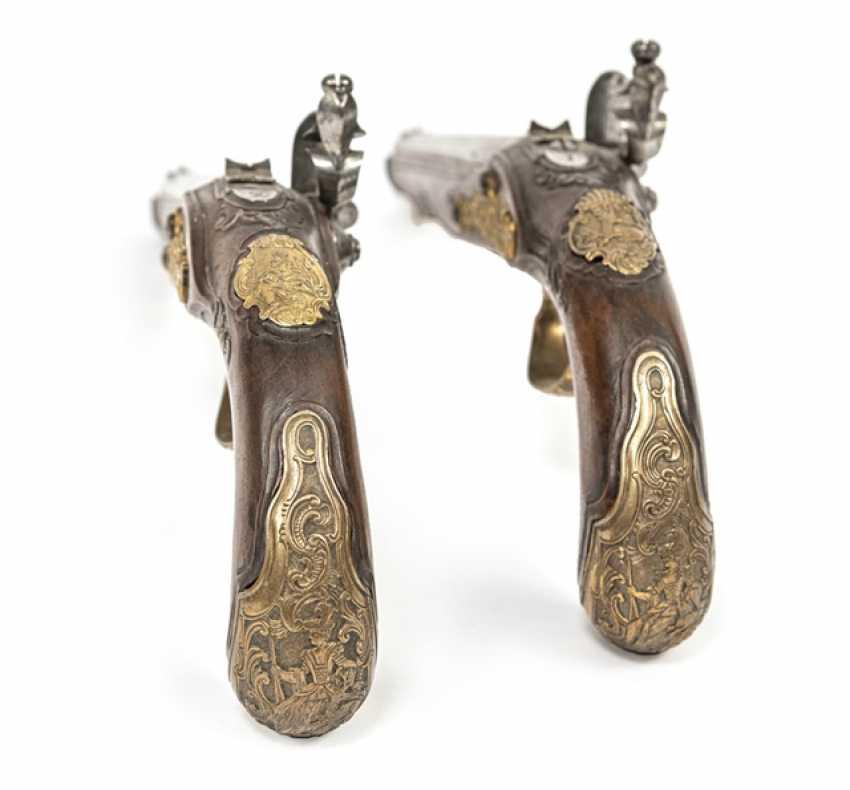 Pair Of Officer's Flintlock Pistols - photo 6