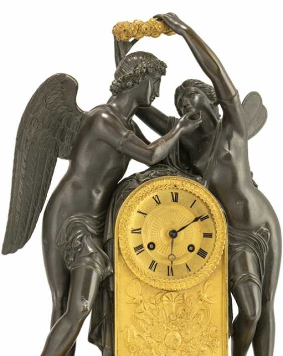 Fine clock with Cupid and Psyche - photo 2