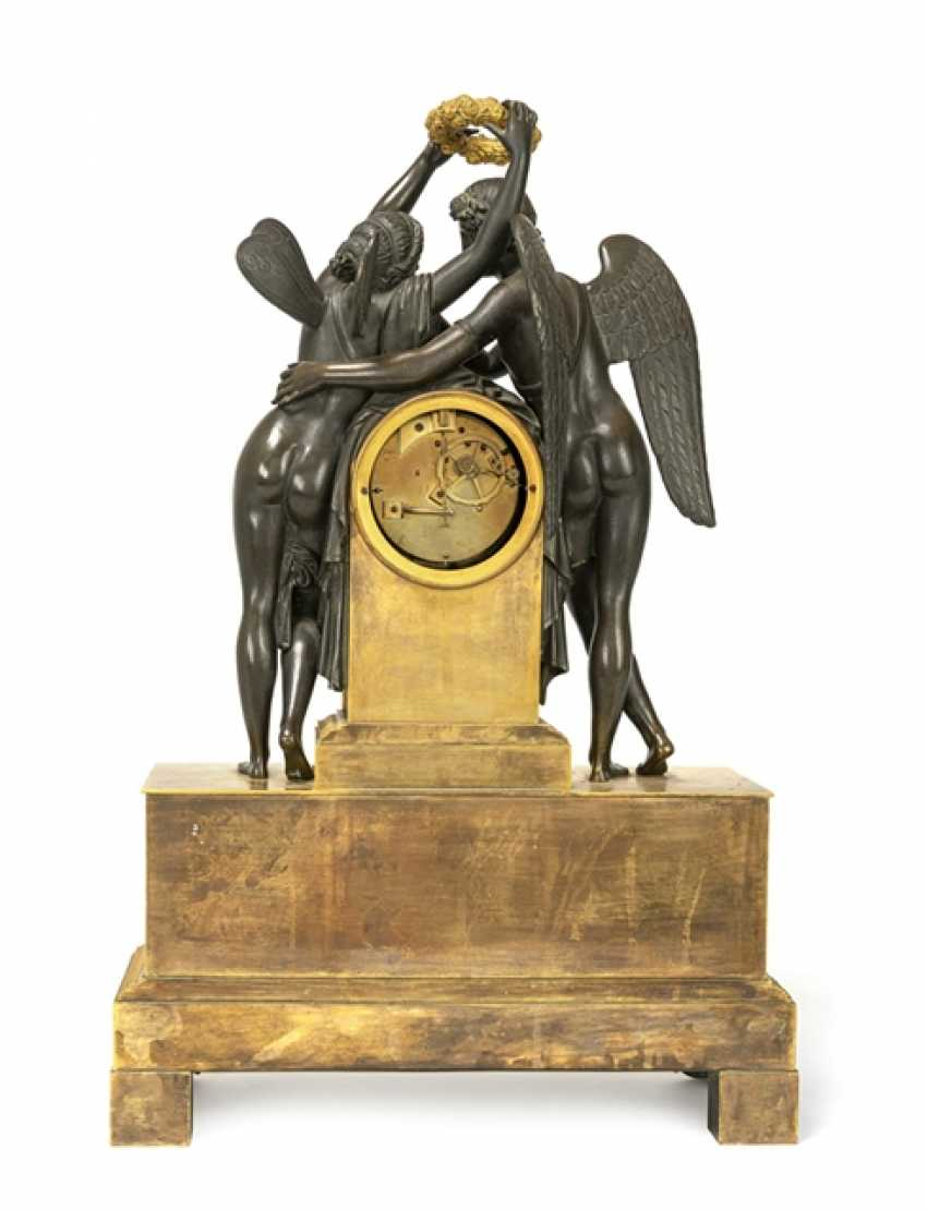 Fine clock with Cupid and Psyche - photo 4