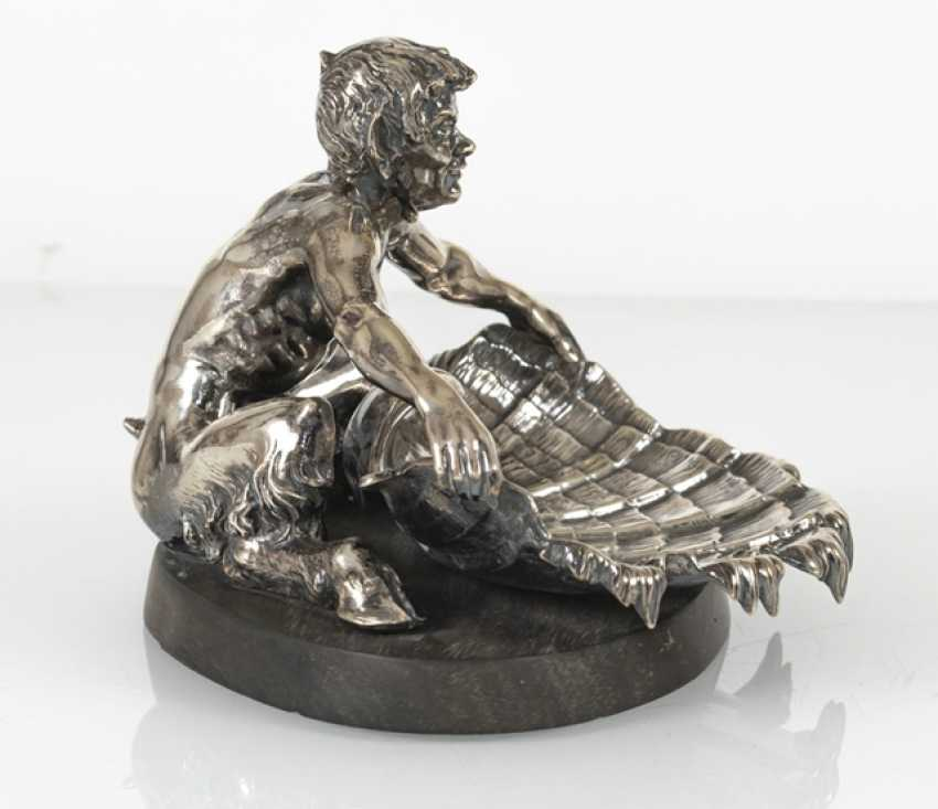 Faun With Conch Shell, Silver - photo 2