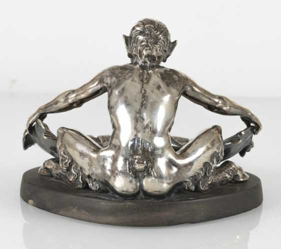 Faun With Conch Shell, Silver - photo 3