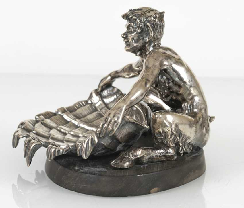 Faun With Conch Shell, Silver - photo 4
