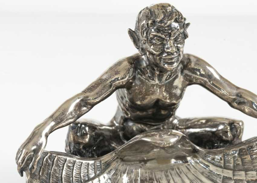 Faun With Conch Shell, Silver - photo 5
