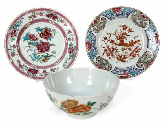 2 PLATES, CHINA, 18. CENTURY, - photo 1