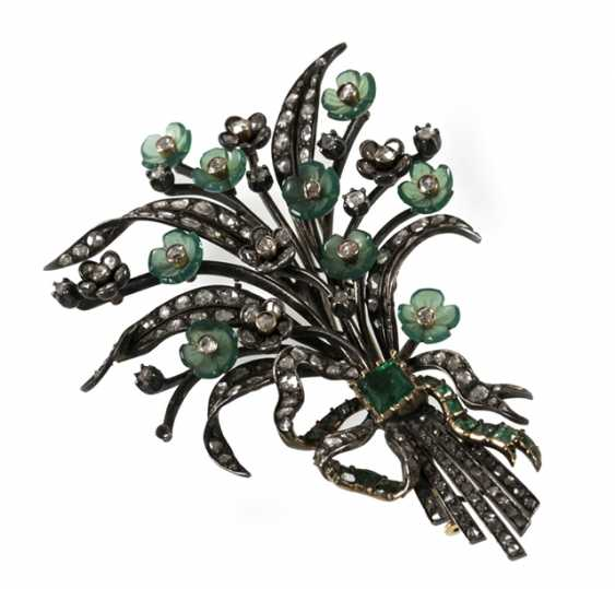 Bouquet Of Flowers Brooch, Si/Gg, - photo 1