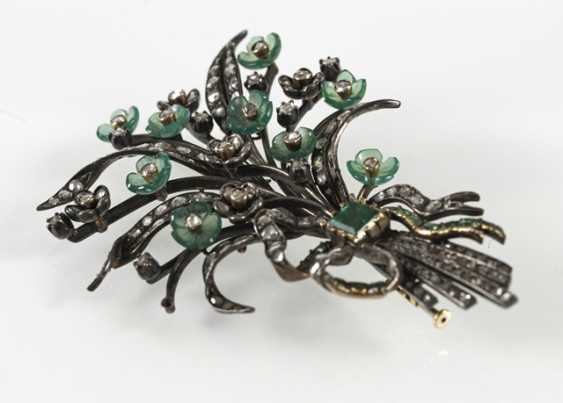 Bouquet Of Flowers Brooch, Si/Gg, - photo 2
