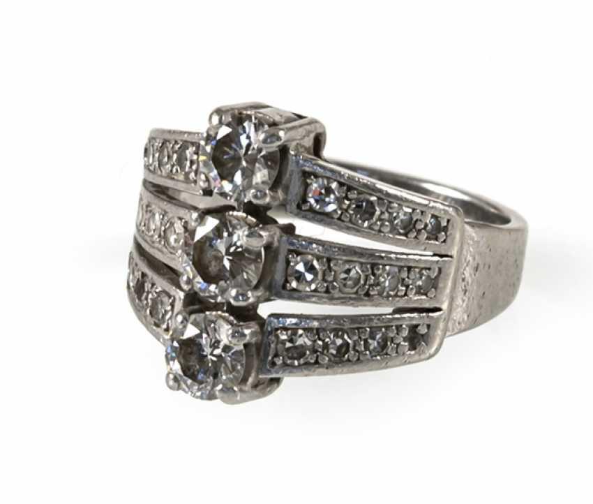 Diamond Ring, Platinum, Diam.Together - photo 1