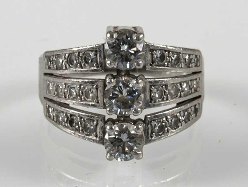 Diamond Ring, Platinum, Diam.Together - photo 2